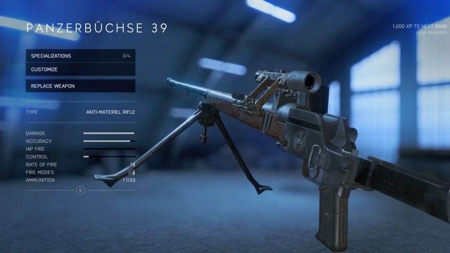 Battlefield 5 Weekly Challenge Panzerbuchse 39