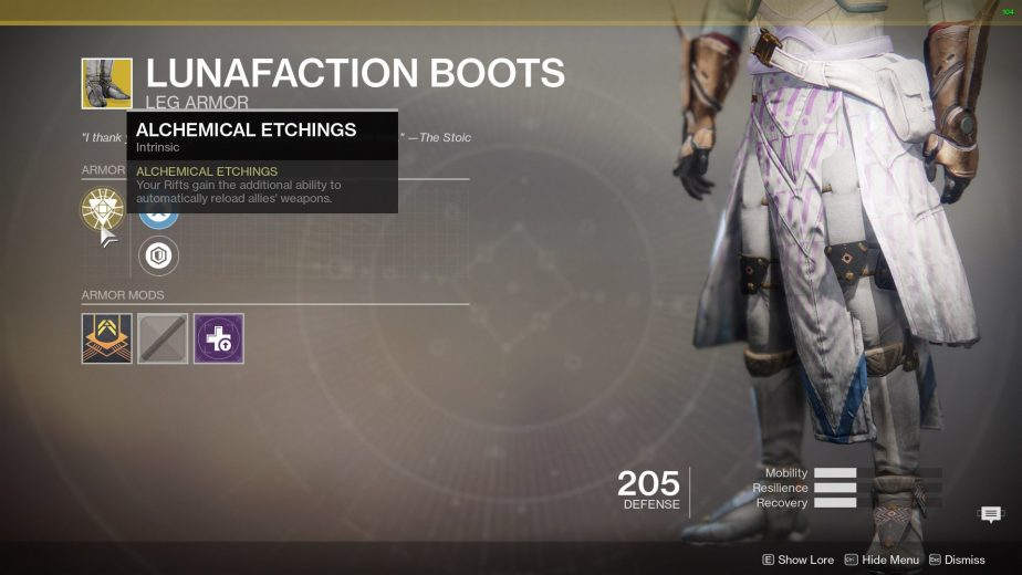 Destiny 2 Exotic Armor Peices Season of the Undying
