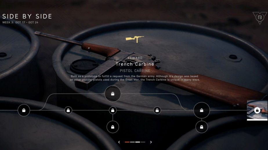 Battlefield 5 Trench Carbine Battlefest Week 3 Side by Side 2