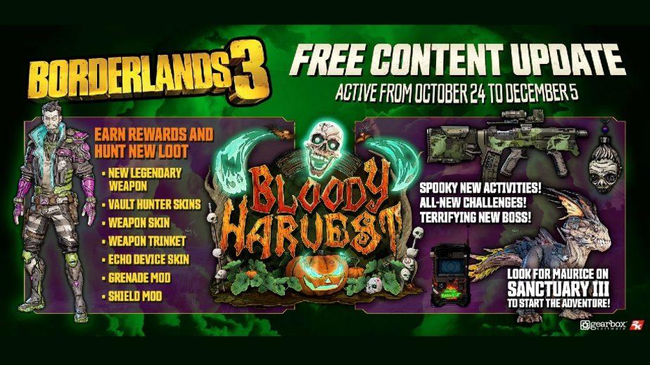 Borderlands 3 Bloody Harvest Event Trailer