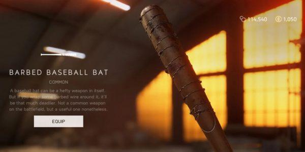 Battlefield 5 Weekly Challenge Barbed Baseball Bat