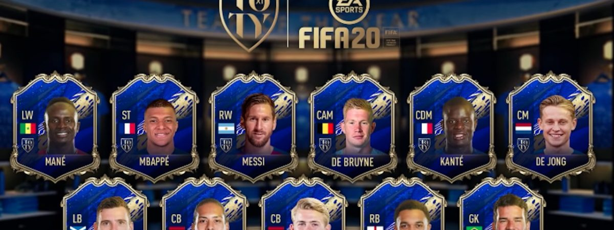 fifa 20 team of the year players revealed