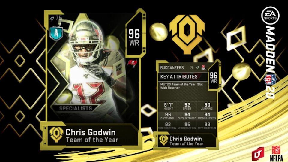 madden 20 team of the year specialists chris godwin