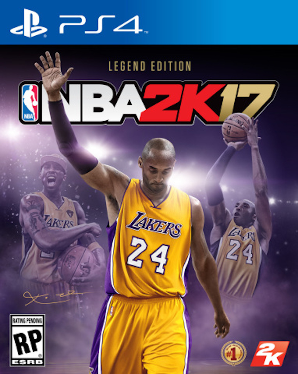 nba 2k17 legend edition cover featuring kobe bryant