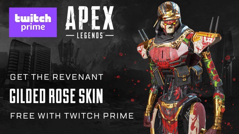Apex Legends Revenant Skin Gilded Rose Twitch Prime
