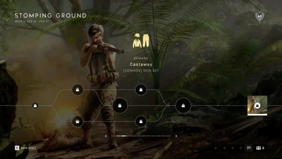 Battlefield 5 Chapter 6 Weekly Challenge US Castaway Set