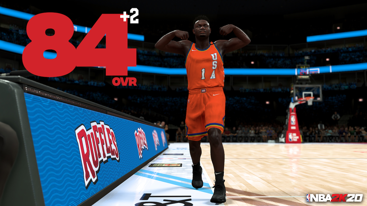 nba 2k20 ratings update zion williamson to 84 ovr