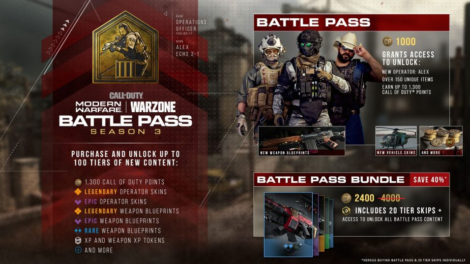 Call of Duty Modern Warfare Season 3 Battle Pass Now Available