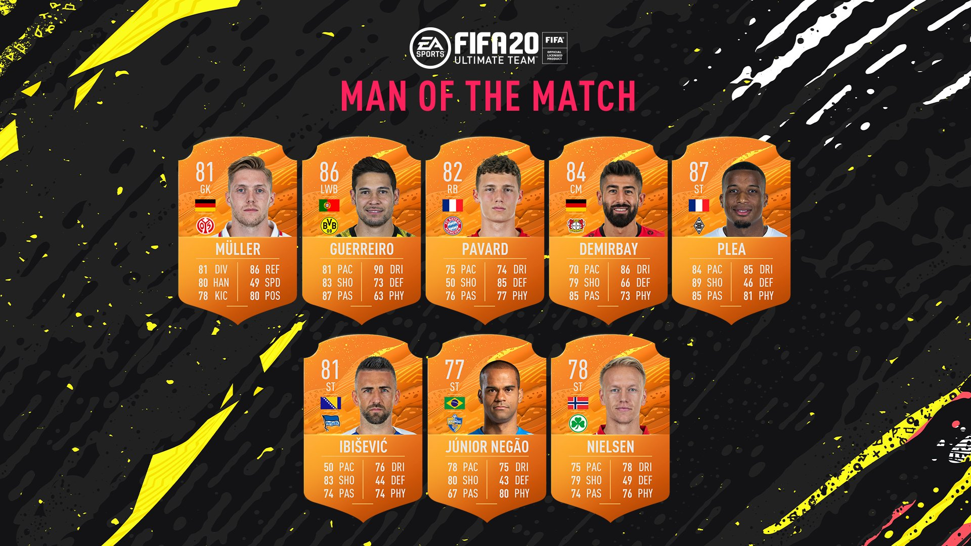 fifa 20 bundesliga man of the match player items