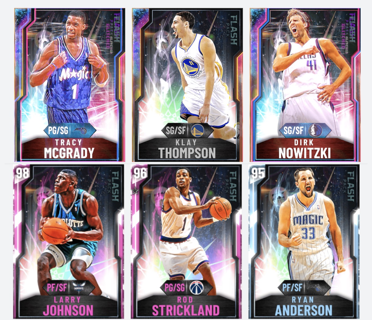 dirk nowitzki, tracy mcgrady and other new nba 2k20 flash pack 7 cards