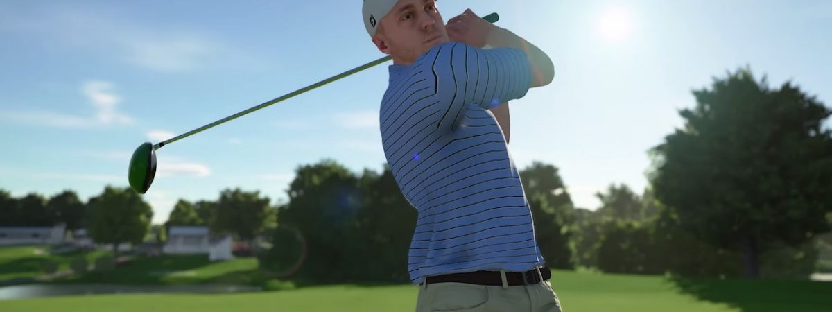 pga tour 2k21 cover athlete justin thomas talks golf game with wwe the miz