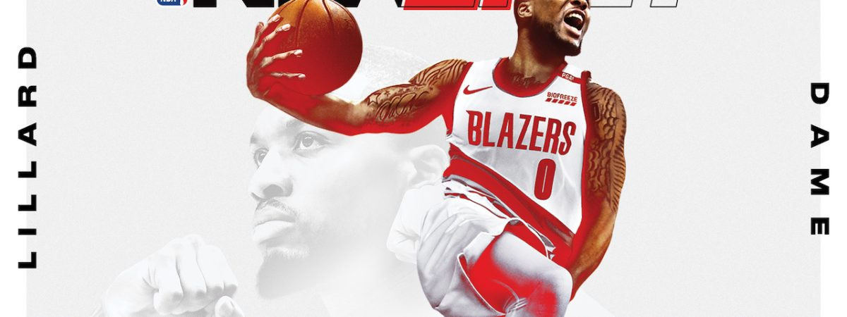 NBA 2k21 cover athlete reveal Damian Lillard current gen cover Star