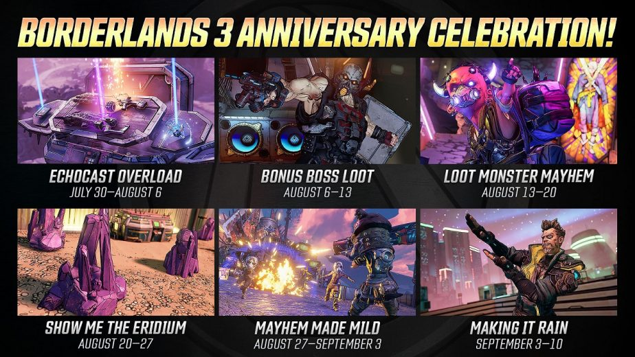 Borderlands 3 Anniversary Celebration Announced