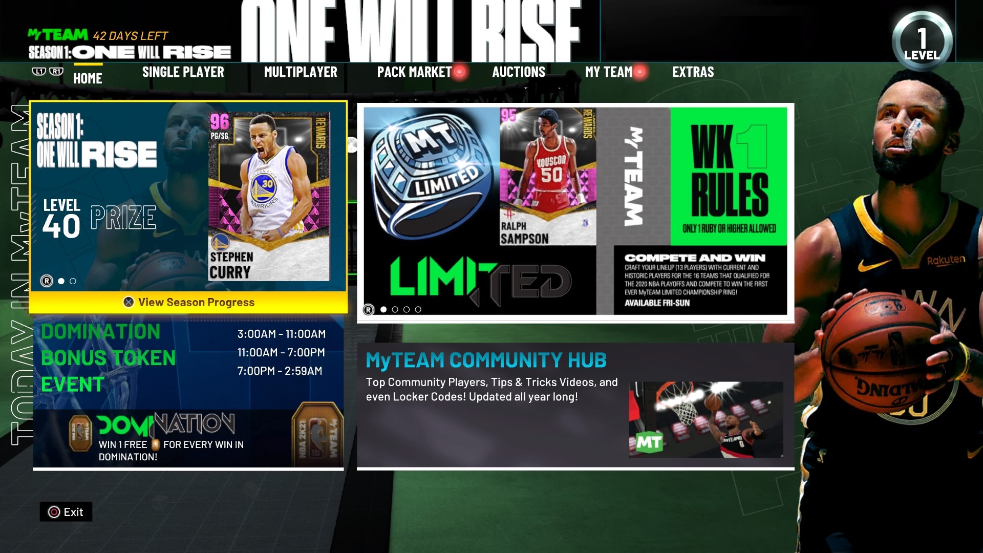 nba 2k21 myteam main menu screen