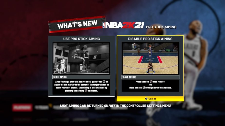 whats new with nba 2k21 shot option