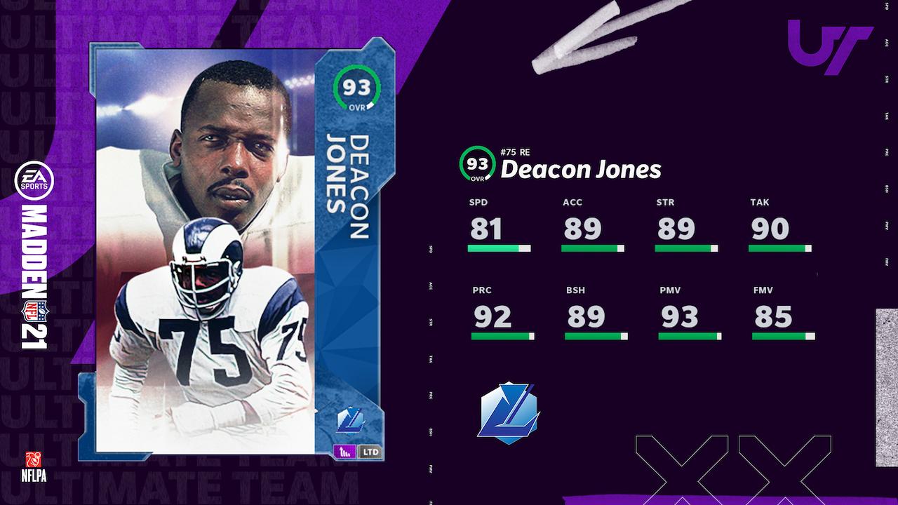 madden 21 legends group 9 deacon jones ltd card