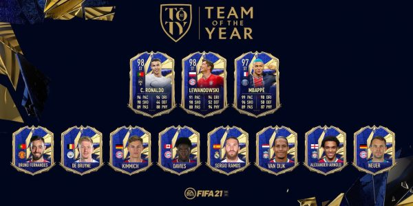 Fifa 21 team of the year players revealed with attacker ratings