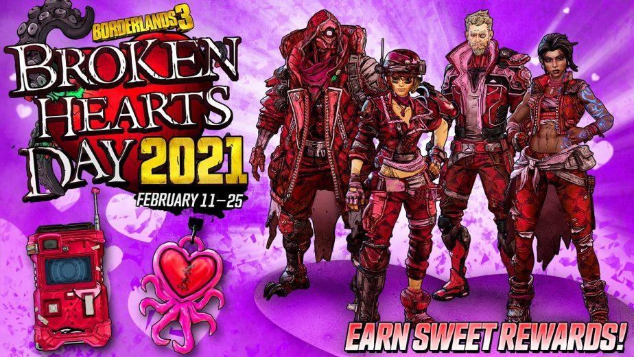 Borderlands 3 Broken Hearts Day Event Returns