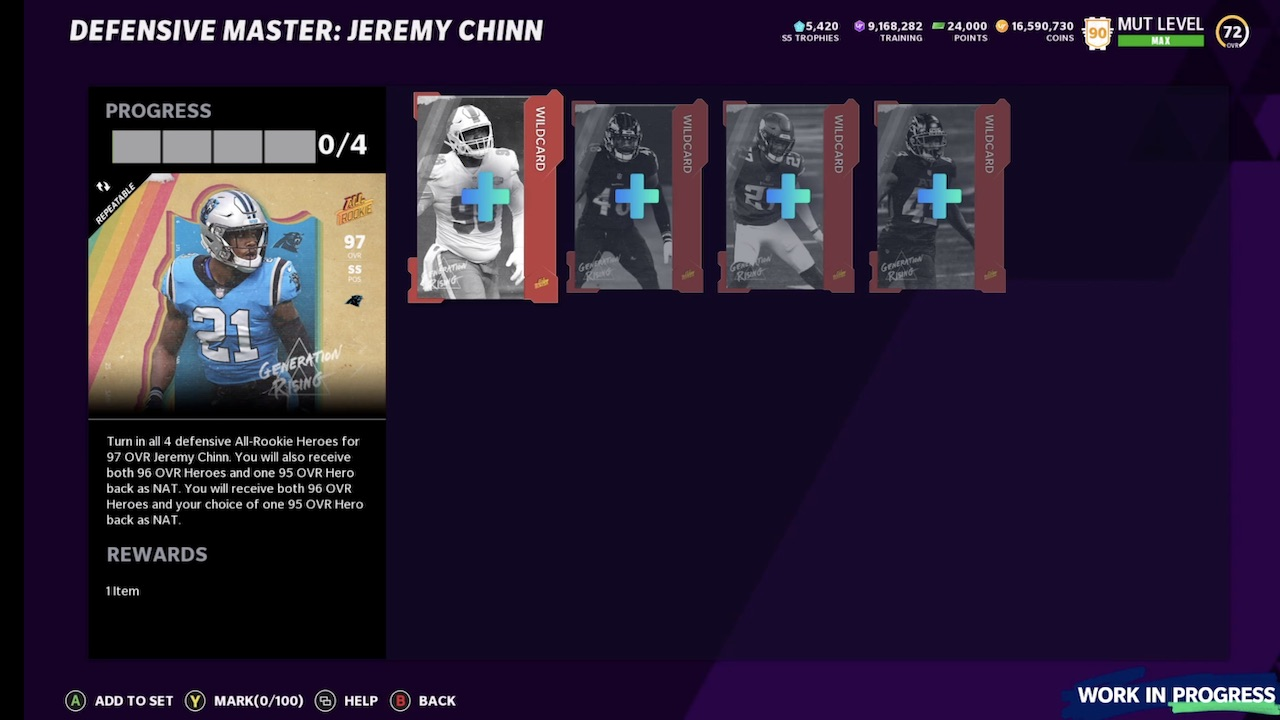 madden 21 all rookie exchange set for jeremy chinn of panthers