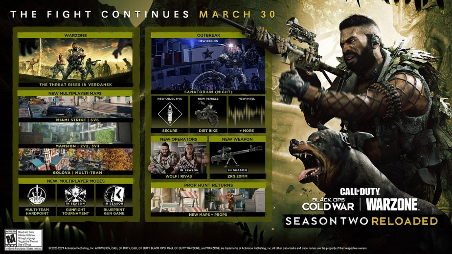 Call of Duty Black Ops Cold War Season 2 Reloaded Now Available 2