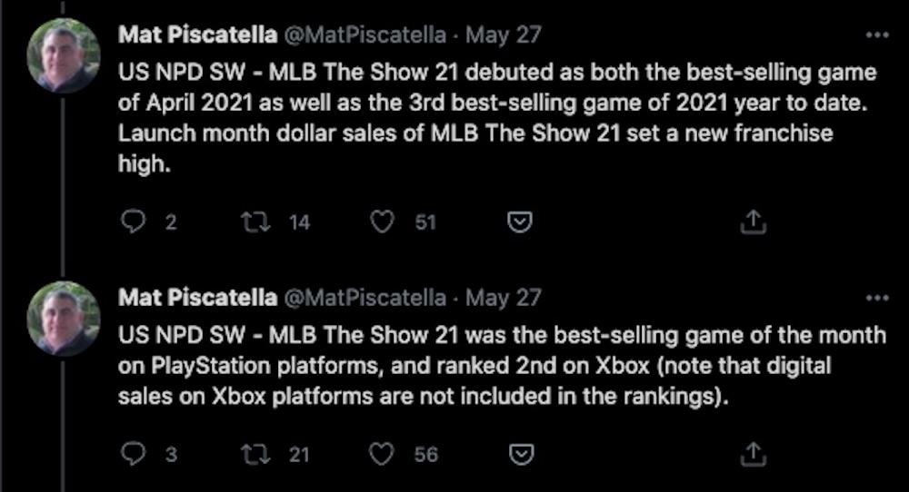 mlb the show 21 sales tweet mat piscatella