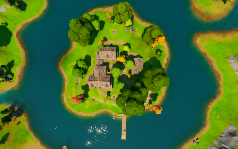 The center of the island looked simple before huge Fortnite map changes in Chapter 2