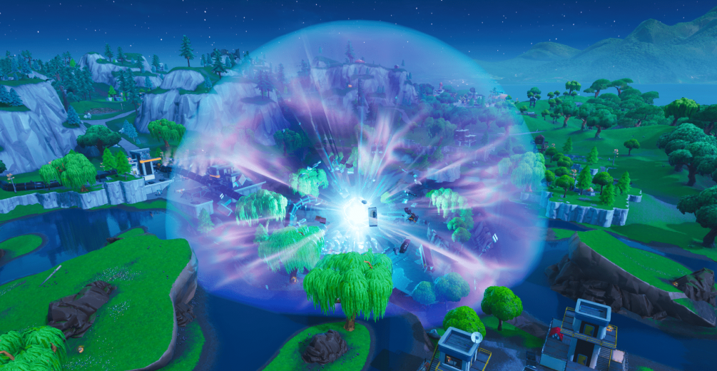 Loot Lake was another no-gravity zone in Fortnite Battle Royale
