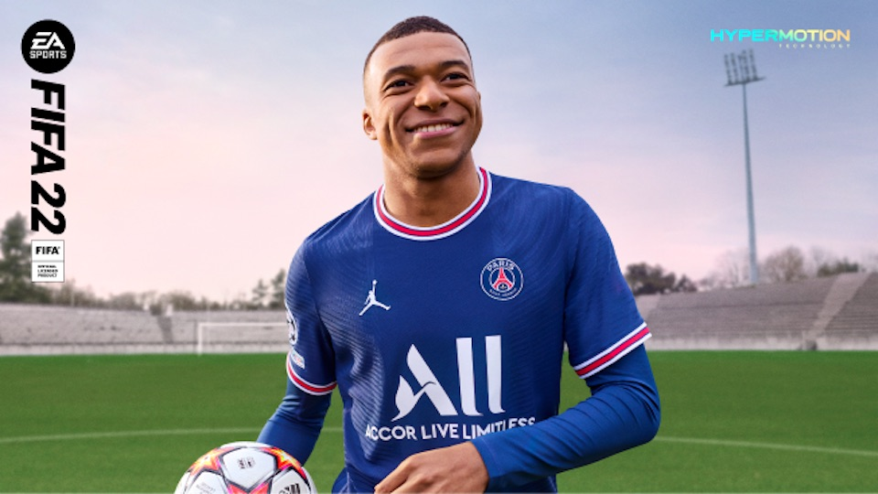 fifa 22 kylian mbappe standard edition cover