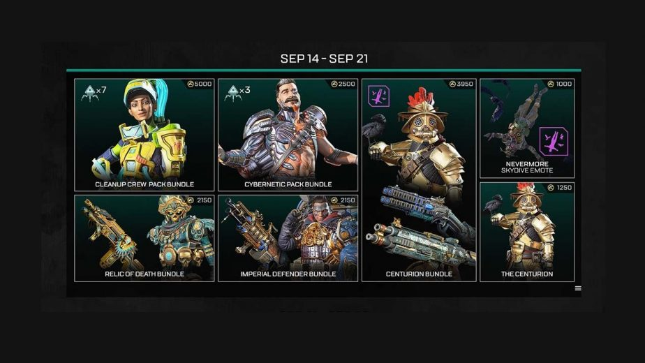 Apex Legends Evolution Collection Event-Limited Cosmetics Store