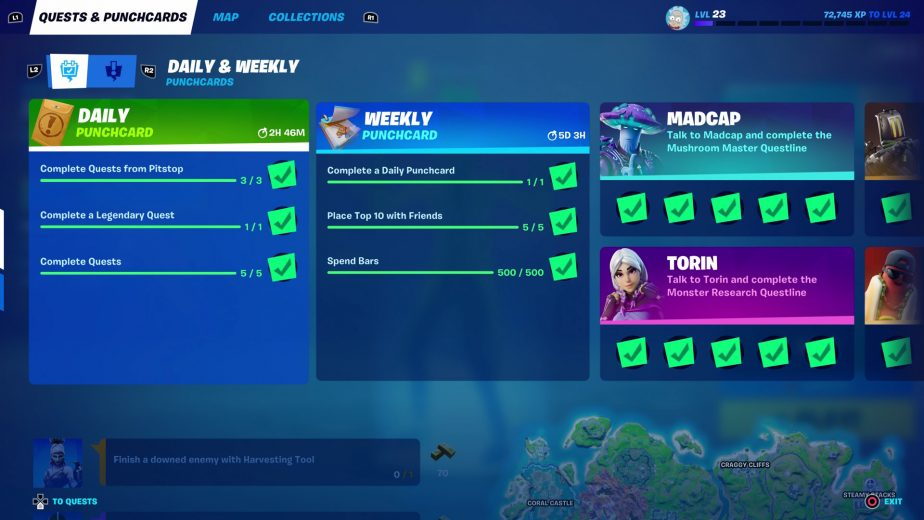 The latest Fortnite update has made massive improvements to the XP system.